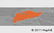 Political Panoramic Map of Villa Franca, desaturated