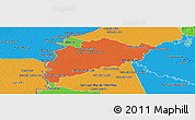 Political Panoramic Map of Villa Franca