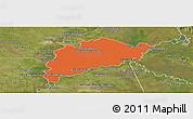 Political Panoramic Map of Villa Franca, satellite outside