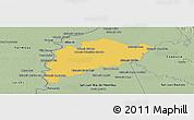 Savanna Style Panoramic Map of Villa Franca