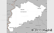 Gray Simple Map of Villa Franca