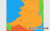 Political Simple Map of Villa Oliva