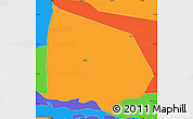 Political Simple Map of Villalvin