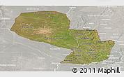 Satellite Panoramic Map of Paraguay, lighten, semi-desaturated