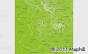 Physical 3D Map of Paraguari