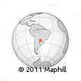 Outline Map of Carapegua