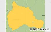Savanna Style Simple Map of Carapegua