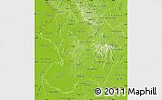 Physical Map of Paraguari