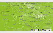 Physical Panoramic Map of Paraguari