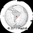 Outline Map of Paraguari