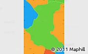 Political Simple Map of Paraguari