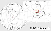 Blank Location Map of Pirayu, highlighted parent region