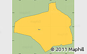 Savanna Style Simple Map of Pirayu, cropped outside