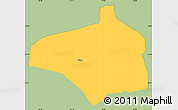 Savanna Style Simple Map of Pirayu, single color outside