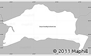 Gray Simple Map of San Roque Gonzalez