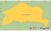 Savanna Style Simple Map of San Roque Gonzalez