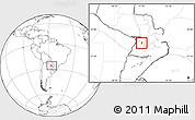 Blank Location Map of Sapucai