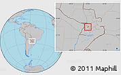 Gray Location Map of Sapucai