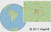 Savanna Style Location Map of Sapucai