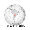 Outline Map of Sapucai