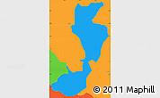 Political Simple Map of Sapucai