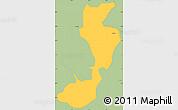 Savanna Style Simple Map of Sapucai