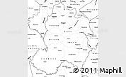 Blank Simple Map of Paraguari