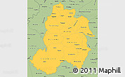 Savanna Style Simple Map of Paraguari