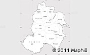 Silver Style Simple Map of Paraguari, cropped outside