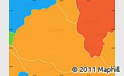 Political Simple Map of Tebicuarymi