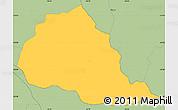 Savanna Style Simple Map of Tebicuarymi