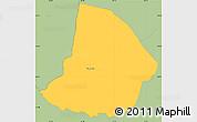 Savanna Style Simple Map of Yaguaron