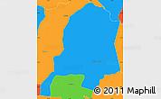 Political Simple Map of Ybytymi