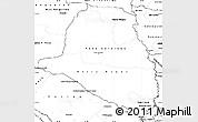 Blank Simple Map of Presidente Hayes