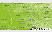 Physical Panoramic Map of San Pedro