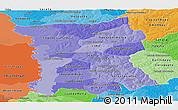 Political Shades Panoramic Map of San Pedro