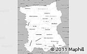 Gray Simple Map of San Pedro