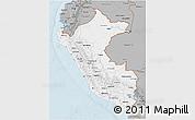 Gray 3D Map of Peru