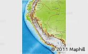 Physical 3D Map of Peru