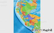 Political 3D Map of Peru