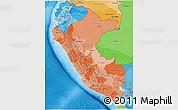 Political Shades 3D Map of Peru