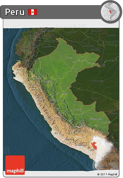 peru map and satellite image choice image