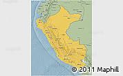 Savanna Style 3D Map of Peru