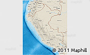 Shaded Relief 3D Map of Peru