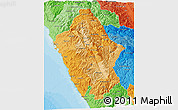 Political Shades 3D Map of Ancash
