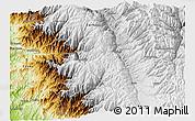 Physical 3D Map of Huaraz