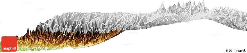 Physical Horizon Map of Huaraz