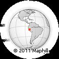 Outline Map of Huaraz