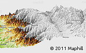 Physical Panoramic Map of Huaraz