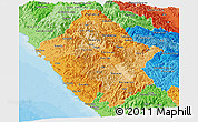 Political Shades Panoramic Map of Ancash